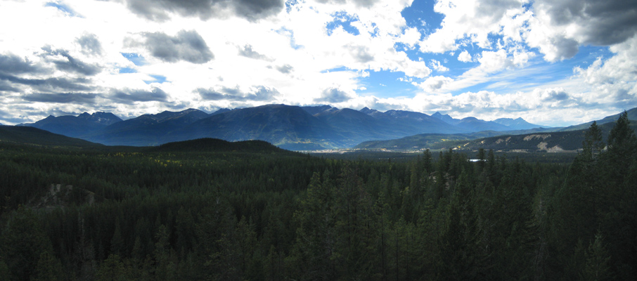 Looking towards the Town of Jasper from the Lookout on 7H