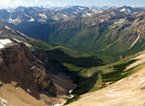 The Amsikwi River Valley from Mt. McArthur