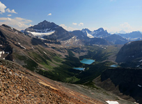 Geraldine Lakes and Mt. Fryatt