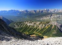 King Creek Ridge and the Kananaskis Lakes from Mt. Hood's Summit