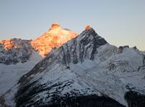 Dawn Breaks Upon Mt. Athabasca and Hilda Peak