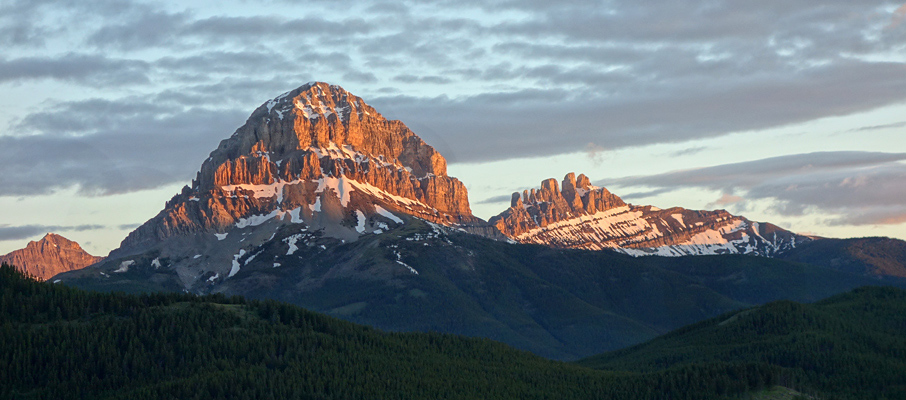 Crowsnest Mountain at Sunrise