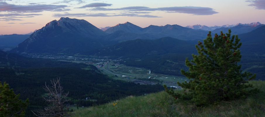 Turtle Mountain and the Town of Blairmore