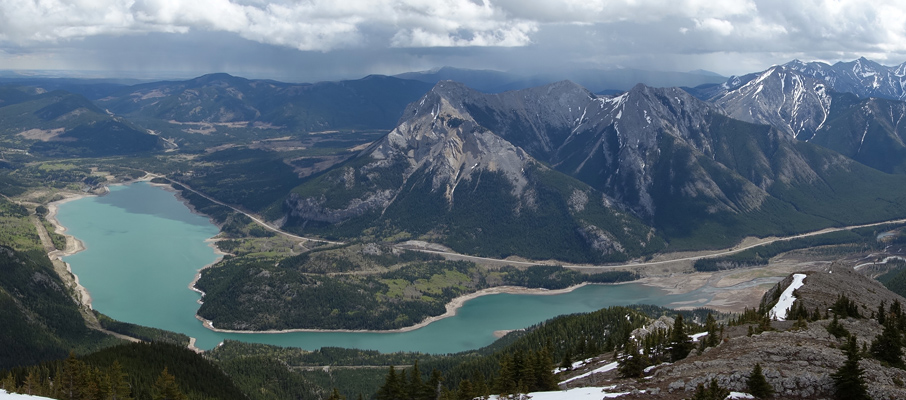 Mt. Baldy and Barrier Lake from Twin Towers (east peak)