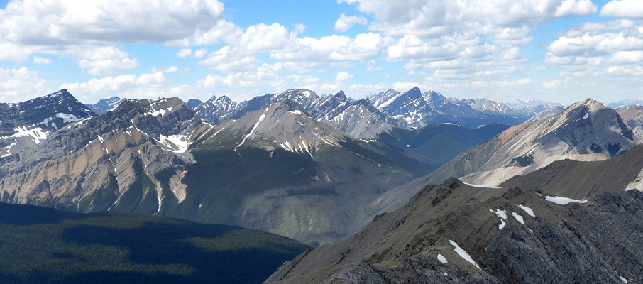 Rarely seen peaks in the northern reaches of Jasper National Park