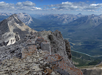 The northern view from the summit of Mt. Rundle