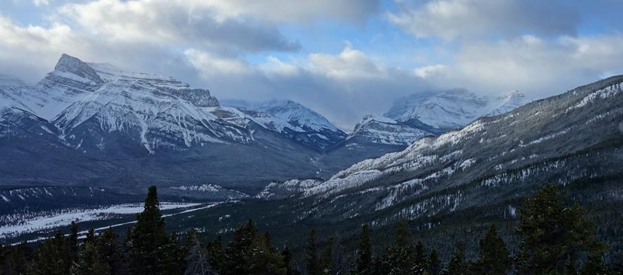 Mt. Peskett and Corona Ridge to the Southwest