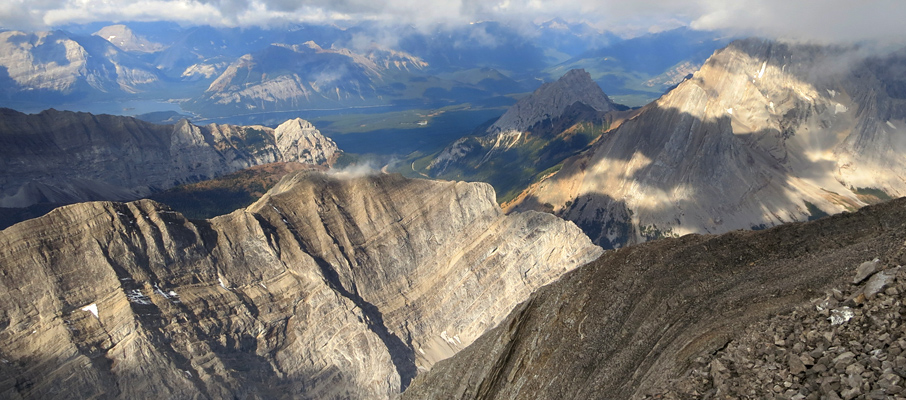 The western view towards the Kananaskis Lakes