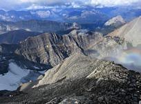 Gazing westward from the lofty summit of Mt. Rae