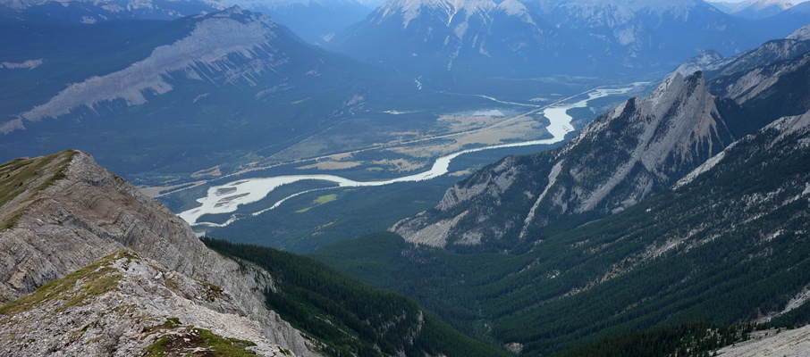 The Palisades and the Athabasca River Valley
