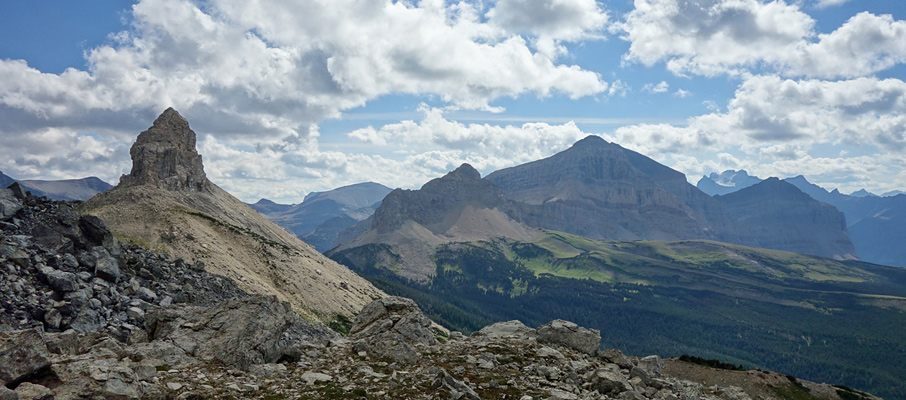 Squaw Mountain from the traverse around Chief Mountain. Mt. Gable is visible to the right.