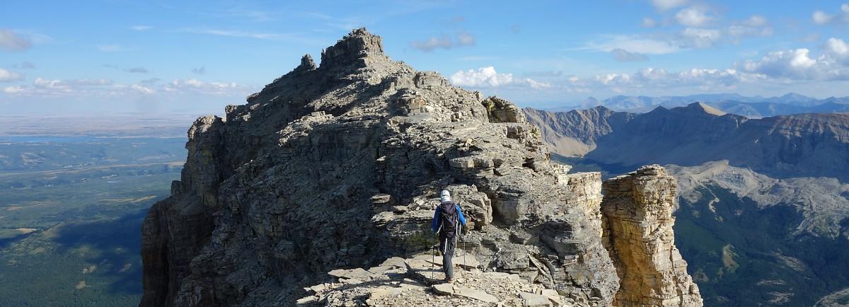 Steven heading towards the summit of Chief Mountain
