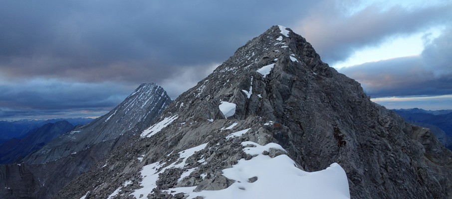 Approaching the false summit of Mt. Nestor with Goat Mountain in the background.